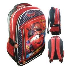 BGC Cars McQueen 3 Kantung Catur Full Sateen IMPORT Tas Ransel Sekolah Anak SD