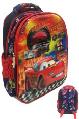 BGC Disney Cars 5D Timbul Glow Import Lightning Mc Queen Can Turn To Fransesco Bernouli Tas Ransel Anak Sekolah SD