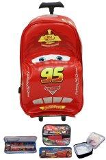 Diskon Bgc Disney Cars Tas Troley 3D Lightning Mcqueen On The Road Lunch Bag Aluminium Tahan Panas Kotak Pensil Alat Tulis