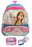 Harga Hemat Bgc Disney Frozen Fever 3D Timbul 2 Kantung Tas Troley Sekolah Anak Tk Lunch Bag Aluminium Tahan Panas