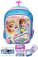 Toko Bgc Disney Frozen Fever Elsa Anna 3 Kantung Depan Full Saten Import Tas Troley Anak Sekolah Tk Lunch Bag Aluminium Tahan Panas Kotak Pensil Alat Tulis Terlengkap Di Banten