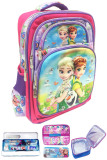 ... dengan BGC 6 Dimensi Hologram Frozen Fever Anti Gores Hologram 2 Kantung Tas Troley Anak TK IMPORT + Lunch Bag Aluminium Tahan Panas - Full Motif Frozen
