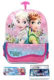 Toko Bgc Disney Frozen Fever Elsa Anna Kantung Depan Tas Troley Anak Tk Kotak Pensil Alat Tulis Blue Pink Murah Di Banten