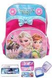 Promo Bgc Disney Frozen Fever Elsa Anna Pita Renda Tas Ransel Anak Tk Lunch Bag Kotak Pensil Alat Tulis Blue Pink Bgc Terbaru