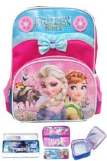 Review Bgc Disney Frozen Fever Elsa Anna Pita Renda Tas Ransel Anak Tk Lunch Bag Kotak Pensil Alat Tulis Blue Pink Terbaru