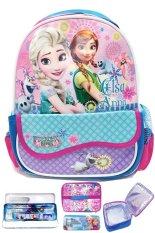 Situs Review Bgc Disney Frozen Fever Kantung Depan Import Tas Ransel Sekolah Anak Tk Lunch Bag Aluminium Tahan Panas Kotak Pensil Alat Tulis Blue Purple