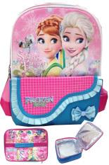 Model Bgc Disney Frozen Fever Kantung Depan Tas Ransel Sekolah Anak Tk Lunch Bag Aluminium Tahan Panas Blue Pink Pita Renda Terbaru