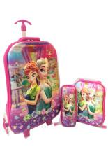 Spek Bgc Disney Frozen Fever Olaf Elsa Anna 2 Koper Set Troley T Lunch Box Kotak Pensil 5D Timbul Hologram Import Hard Cover Tas Anak Sekolah Bgc