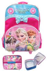 Jual Bgc Disney Frozen Fever Pita Renda Tas Troley Sekolah Anak Tk Lunch Bag Aluminium Tahan Panas Lengkap