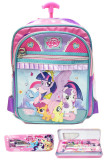 Bgc Disney My Little Pony Pinkie Best Friends 3 Kantung Tas Troley Sekolah Anak Sekolah Tk Kotak Pensil Alat Tulis Purple Pink Green 2 Bgc Diskon 50