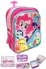 Jual Bgc Disney My Little Pony Pinkie Best Friends Full Sateen Import 3 Kantung Tas Troley Anak Sekolah Tk Lunch Bag Aluminium Tahan Panas Kotak Pensil Alat Tulis Branded Murah