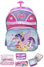 Promo Bgc Disney My Little Pony Pinkie Best Friends Love Renda 2 Kantung Tas Troley Sekolah Anak Sekolah Tk Lunch Bag Aluminium Kotak Pensil Alat Tulis Purple Pink Green 3 Bgc
