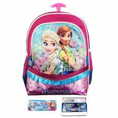 Harga Bgc Frozen Feverfull Sateen Gilter Renda Tas Troley Anak Sekolah Tk Kotak Pensil Alat Tulis Blue Pink Bgc Asli
