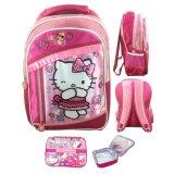 Toko Bgc Hello Kitty 3 Kantung Renda Full Sateen Import Tas Ransel Sekolah Anak Sd Lunch Bag Aluminium Tahan Panas Termurah
