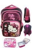 Toko Bgc Hello Kitty 4 Kantung Import Tas Ransel Anak Sekolah Sd Lunch Bag Aluminium Tahan Panas Black Pink Prada Online