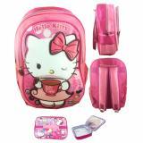 Beli Bgc Hello Kitty Drink Coffe 3D Timbul Tas Ransel Anak Sekolah Tk Lunch Bag Aluminium Tahan Panas Bgc Asli