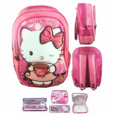 Diskon Bgc Hello Kitty Drink Coffe 3D Timbul Tas Ransel Anak Sekolah Tk Lunch Bag Aluminnium Tahan Panas Kotak Pensil Alat Tulis Bgc