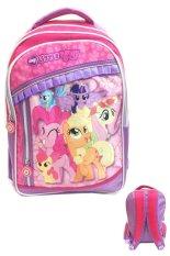 Bgc My Little Pony 3 Kantung Renda Full Sateen Import Tas Ransel Sekolah Anak Sd Terbaru