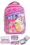 Toko Bgc My Little Pony 3 Kantung Renda Full Sateen Import Tas Ransel Sekolah Anak Sd Lunch Bag Aluminium Tahan Panas Kotak Pensil Alat Tulis Di Banten