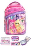 Bgc My Little Pony 3 Kantung Renda Full Sateen Import Tas Ransel Sekolah Anak Sd Lunch Bag Aluminium Tahan Panas Kotak Pensil Alat Tulis Bgc Diskon