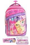 Bgc My Little Pony 3 Kantung Renda Full Sateen Import Tas Troley Sekolah Anak Sd Kotak Pensil Alat Tulis Banten Diskon