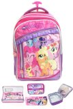 Bgc My Little Pony 3 Kantung Renda Full Sateen Import Tas Troley Sekolah Anak Sd Lunch Bag Aluminium Tahan Panas Kotak Pensil Alat Tulis Original