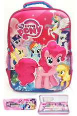 Toko Bgc My Little Pony 3D Boneka Timbul Hard Cover Tas Ransel Sekolah Anak Sd Kotak Pensil Alat Tulis Termurah Banten