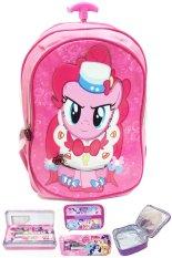 Spesifikasi Bgc My Little Pony 3D Timbul Bahan Saten Berkualitas Tas Troley Anak Sekolah Tk Lunch Bag Aluminium Tahan Panas Kotak Pensil Alat Tulis Pinkie Pie Yg Baik