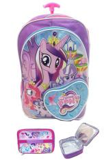 Bgc My Little Pony Love Bahan Saten Berkualitas Tas Troley Anak Sekolah Sd Lunch Bag Aluminium Tahan Panas Purple Love Asli