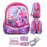 Spesifikasi Bgc My Little Pony Pinkie Pie Full Sateen Gilter Renda Tas Ransel Anak Sekolah Tk Lunch Bag Aluminium Tahan Panas Kotak Pensil Alat Tulis Purple Pink Murah