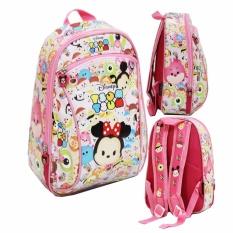 BGC Tas Ransel Sekolah Anak PG Tsum Tsum Mickey Minnie Mouse - Full Motif Tsum Tsum