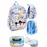 Diskon Besarbgc Tas Ransel Sekolah Anak Pg Tsum Tsum Mickey Minnie Mouse Lunch Bag Aluminium Tahan Panas Full Motif Tsum Tsum Blue