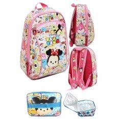 Review Terbaik Bgc Tas Ransel Sekolah Anak Pg Tsum Tsum Mickey Minnie Mouse Lunch Bag Aluminium Tahan Panas Full Motif Tsum Tsum Pink