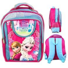 BGC Tas Ransel Sekolah Anak SD Frozen Elsa Anna 3D Timbul Eva Foam Hard Cover