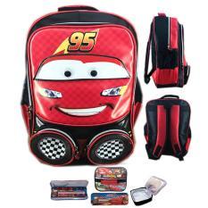 Daftar Harga Bgc Tas Ransel Sekolah Anak Tk Cars Mcqueen 3D Muka Timbul Lunch Bag Aluminium Tahan Panas Kotak Pensil Alat Tulis Red Bgc