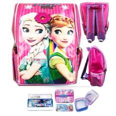 Harga Bgc Tas Ransel Sekolah Anak Tk Frozen Elsa Ribbon 3D Timbul Lunch Bag Aluminium Tahan Panas Kotak Pensil Alat Tulis Full Motif Snow Merk Bgc