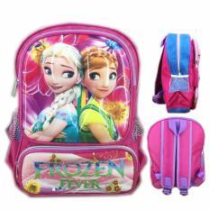 BGC Tas Ransel Sekolah Anak TK Frozen Fever 3D Timbul Hard Cover