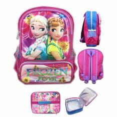 Harga Bgc Tas Ransel Sekolah Anak Tk Frozen Fever 3D Timbul Hard Cover Lunch Bag Aluminium Tahan Panas Di Banten