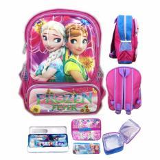 Harga Bgc Tas Ransel Sekolah Anak Tk Frozen Fever 3D Timbul Hard Cover Lunch Bag Aluminium Tahan Panas Kotak Pensil Alat Tulis Bgc Asli