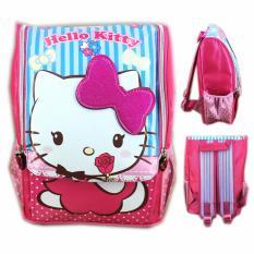 BGC Tas Ransel Sekolah Anak TK Hello Kitty Ribbon3D Timbul - Full Motif Kitty