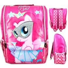 Jual Bgc Tas Ransel Sekolah Anak Tk My Little Pony Pinkie Pie 3D Timbul Jepang Full Motif Pony Branded Murah