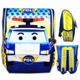 Harga Bgc Tas Ransel Sekolah Anak Tk Robocar Police 3D Timbul Yellow Yang Murah