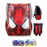 Spesifikasi Bgc Tas Ransel Sekolah Anak Tk Spiderman Muka 3D Timbul Kotak Pensil Alat Tulis Full Motif Spider Yang Bagus