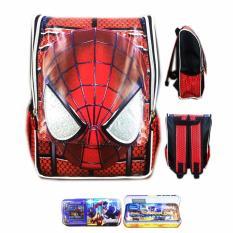 Beli Bgc Tas Ransel Sekolah Anak Tk Spiderman Muka 3D Timbul Kotak Pensil Alat Tulis Full Motif Spider