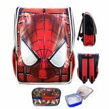 Jual Bgc Tas Ransel Sekolah Anak Tk Spiderman Muka 3D Timbul Lunch Bag Aluminium Tahan Panas Full Motif Spider Bgc Asli