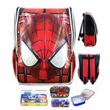 Beli Bgc Tas Ransel Sekolah Anak Tk Spiderman Muka 3D Timbul Lunch Bag Aluminium Tahan Panas Kotak Pensil Alat Tulis Full Motif Spider Baru