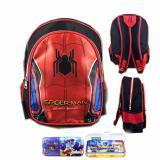 Review Toko Bgc Tas Ransel Sekolah Anak Tk Spiderman Otot Kotak Pensil Alat Tulis Full Sateen