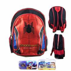 Jual Bgc Tas Ransel Sekolah Anak Tk Spiderman Otot Kotak Pensil Alat Tulis Full Sateen Bgc Original