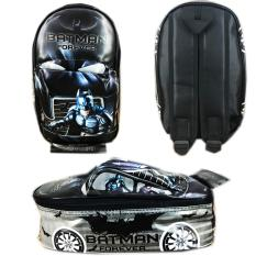 BGC Tas Ransel Sekolah Anak TK Tas Mobil On The Road Batman - Black Grey