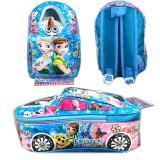 Bgc Tas Ransel Sekolah Anak Tk Tas Mobil On The Road Frozen Fever Blue Bgc Diskon 30